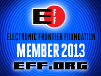 USS Gygax is a proud member of the Electronic Frontier Foundation.